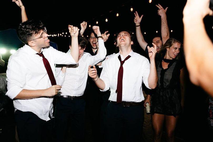 Outdoor reception dance