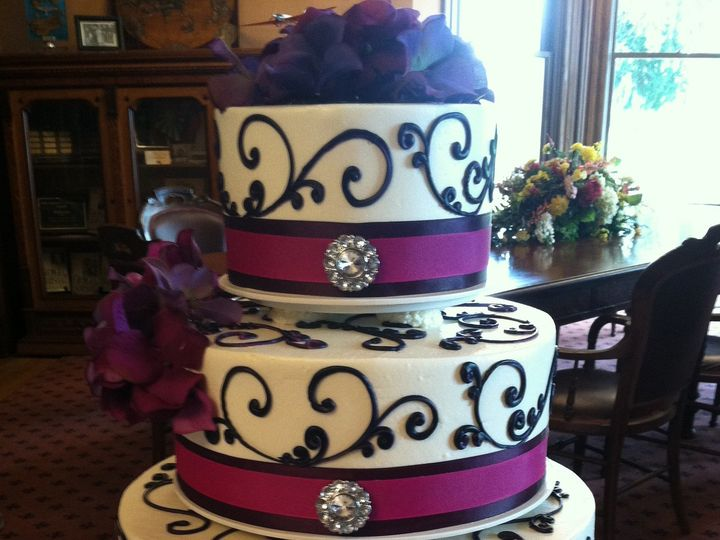 Tmx 1375302317282 Victoria Cake W Bling Beaverton, OR wedding cake