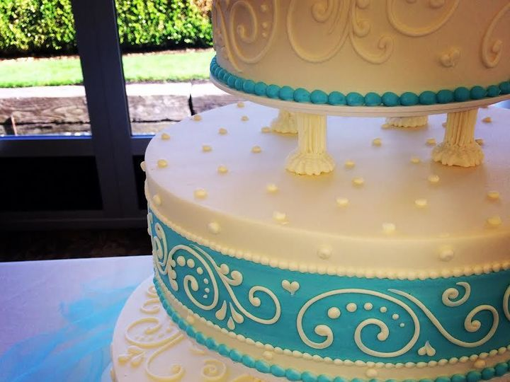 Tmx 1516838877 4066ed5d1860fca9 Scroll And Dots In Tiffany Blue Beaverton, OR wedding cake