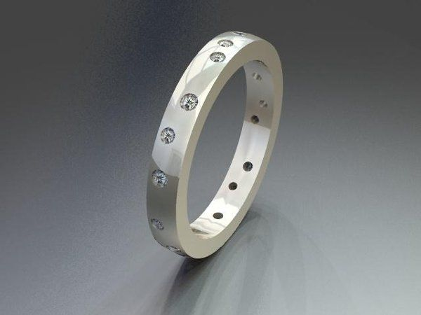 Tmx 1240431654390 BurnishedDiamondBand Lutherville Timonium wedding jewelry