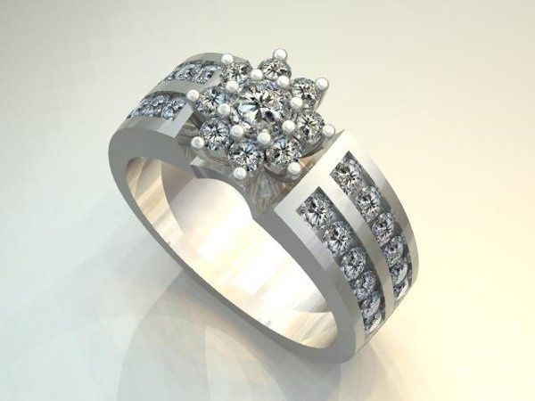 Tmx 1240431656843 DiamondFlowerClusterRing Lutherville Timonium wedding jewelry