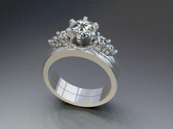 Tmx 1240431664234 EngagementRingwithWrapBand Lutherville Timonium wedding jewelry