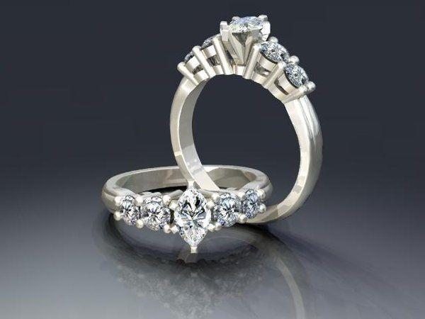 Tmx 1240431669593 MarquisDiamondEngagementRing Lutherville Timonium wedding jewelry
