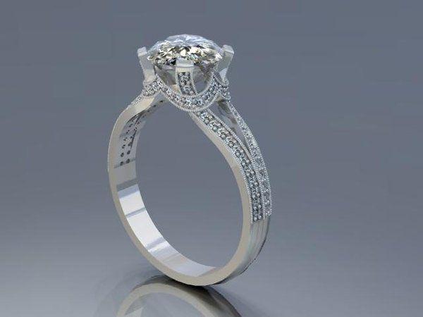 Tmx 1240431670515 MilgrainandDiamondEngagementRing Lutherville Timonium wedding jewelry