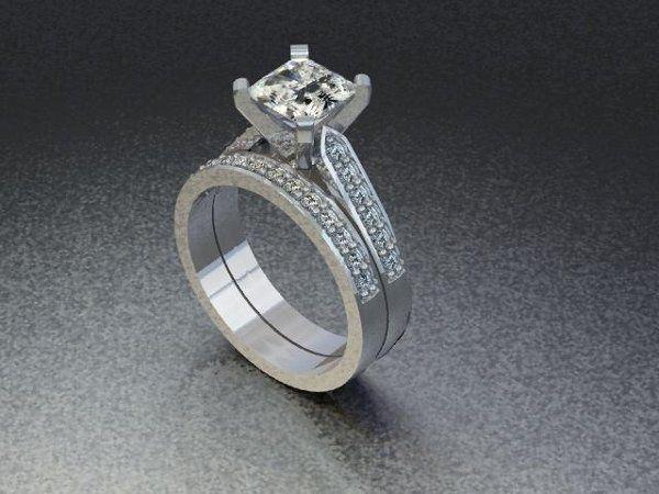 Tmx 1240431674250 PrincessCutDiamondRingwithBand Lutherville Timonium wedding jewelry