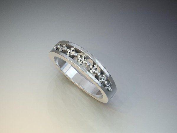 Tmx 1240431677000 SimplePrincessCutDiamondBand Lutherville Timonium wedding jewelry