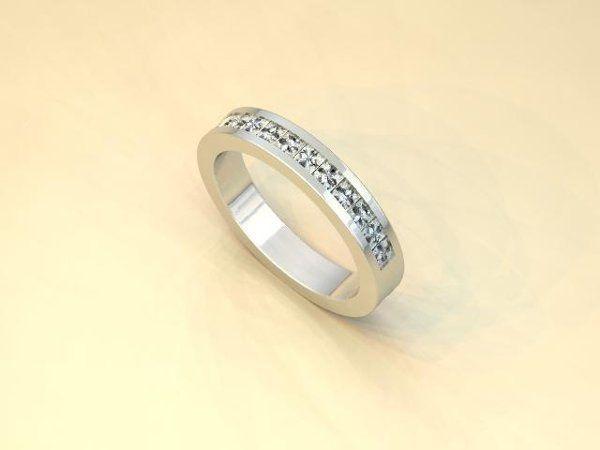 Tmx 1240431678890 PrincessCutDiamondChannelSetBand Lutherville Timonium wedding jewelry