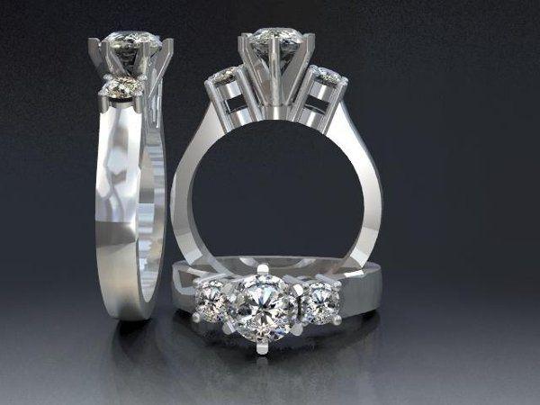 Tmx 1240431685421 ThreeStoneEngagementRing Lutherville Timonium wedding jewelry