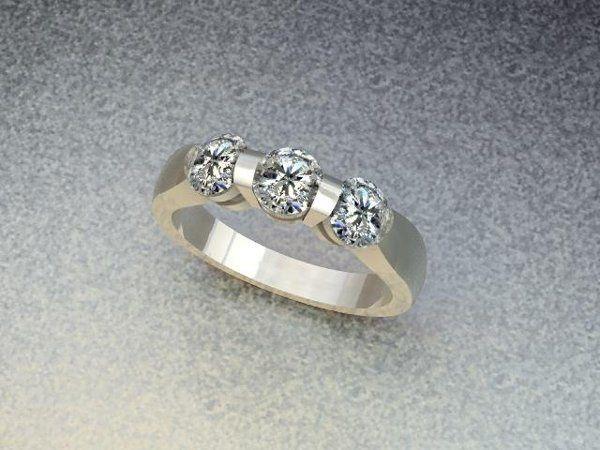 Tmx 1240431690718 ThreeStoneBarSetBand Lutherville Timonium wedding jewelry