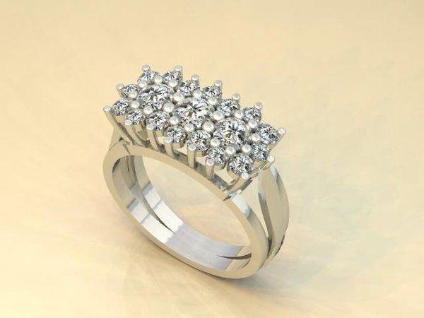 Tmx 1240431693406 WGClusterDiamondRing Lutherville Timonium wedding jewelry