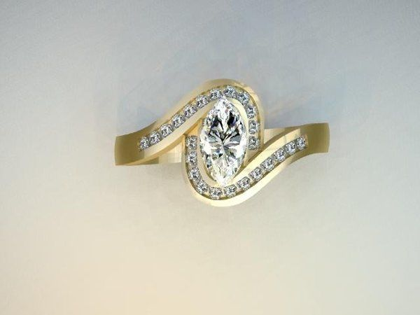 Tmx 1240431696375 YGMarquisDiamondRing Lutherville Timonium wedding jewelry
