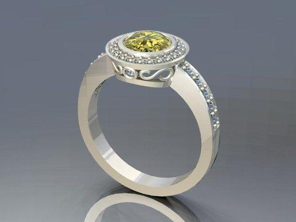 Tmx 1240431698812 YellowDiamondRing Lutherville Timonium wedding jewelry