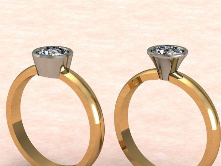 Tmx 1288109025014 BezelSolitaireRing Lutherville Timonium wedding jewelry