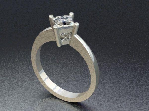 Tmx 1288109042358 SolitairePrincessCutDiamondRing Lutherville Timonium wedding jewelry