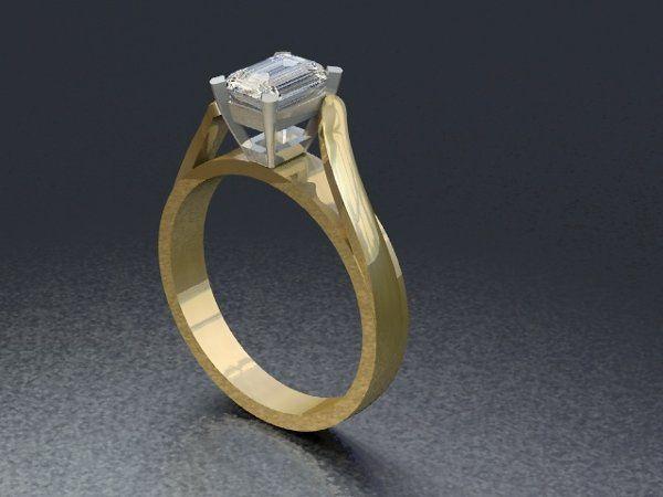 Tmx 1288109052248 TwoToneEngagementRing Lutherville Timonium wedding jewelry