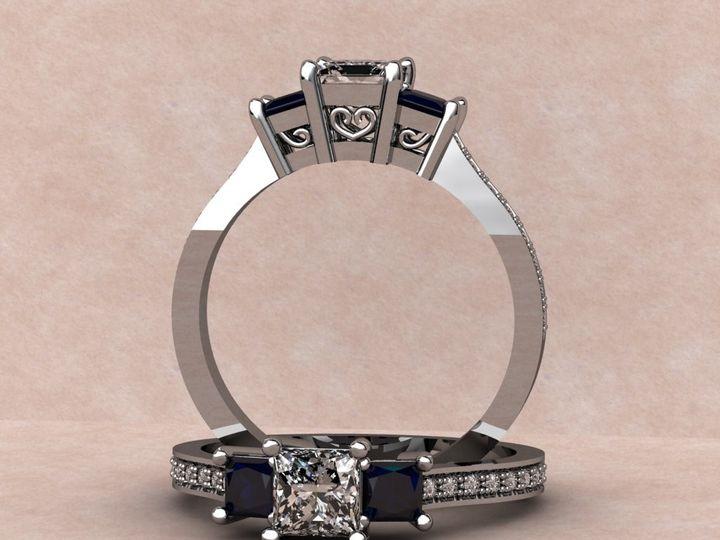 Tmx 1390595818203 Diamond And Sapphire Princess Cut Stone Lutherville Timonium wedding jewelry