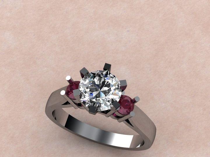 Tmx 1390595822522 Diamond Center With Red Side Stone Lutherville Timonium wedding jewelry