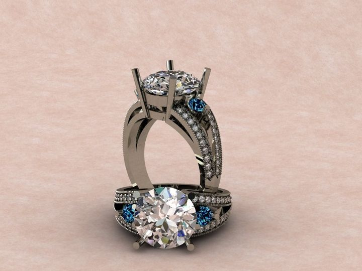 Tmx 1390595826045 Diamond Engagement Ring With Diamond Accents And B Lutherville Timonium wedding jewelry