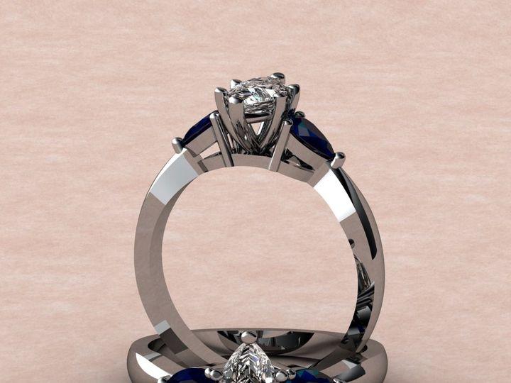 Tmx 1390595841551 Marquis Diamond Pear Shaped Sapphire Lutherville Timonium wedding jewelry