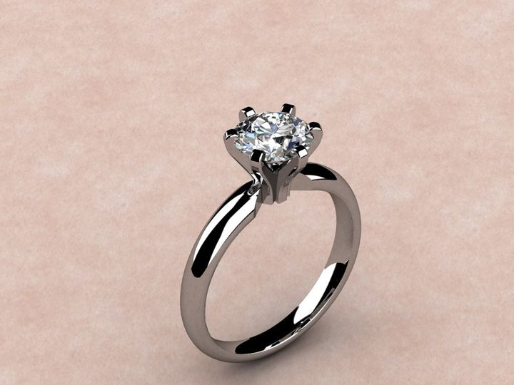 Tmx 1390595924035 6 Prong Solitair Lutherville Timonium wedding jewelry