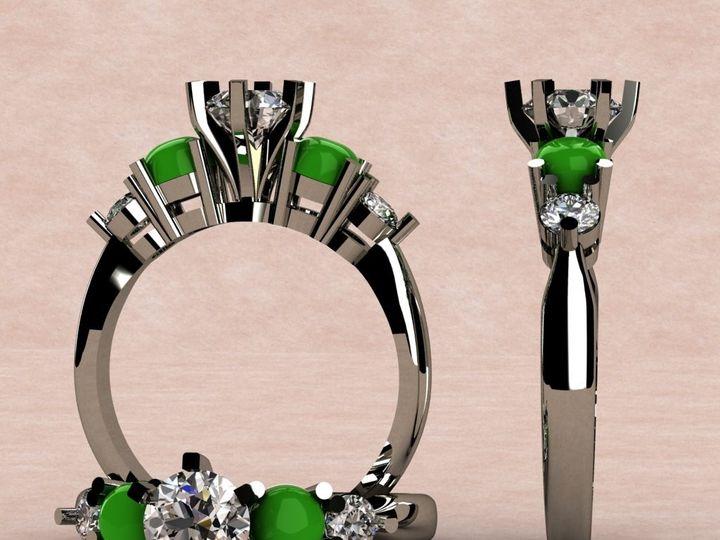Tmx 1390595966860 Cabachon Jade And Diamond Rin Lutherville Timonium wedding jewelry