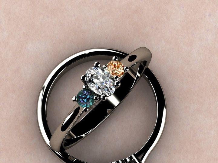 Tmx 1390595969733 Custom Birthstone Eng. Ring   White Gol Lutherville Timonium wedding jewelry