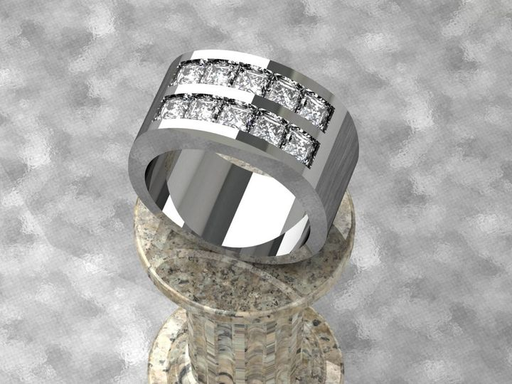 Tmx 1390596127847 Double Channel Set Diamond Ban Lutherville Timonium wedding jewelry