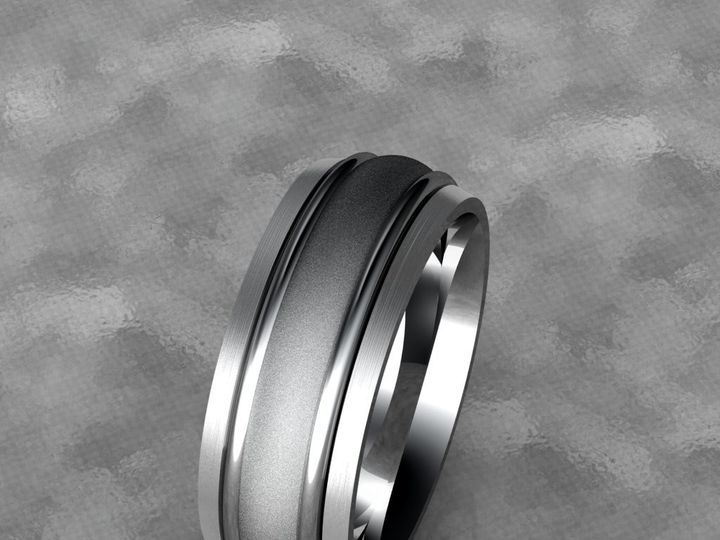 Tmx 1390596130771 Gents Band With A Satin And Stone Finish   Wider D Lutherville Timonium wedding jewelry