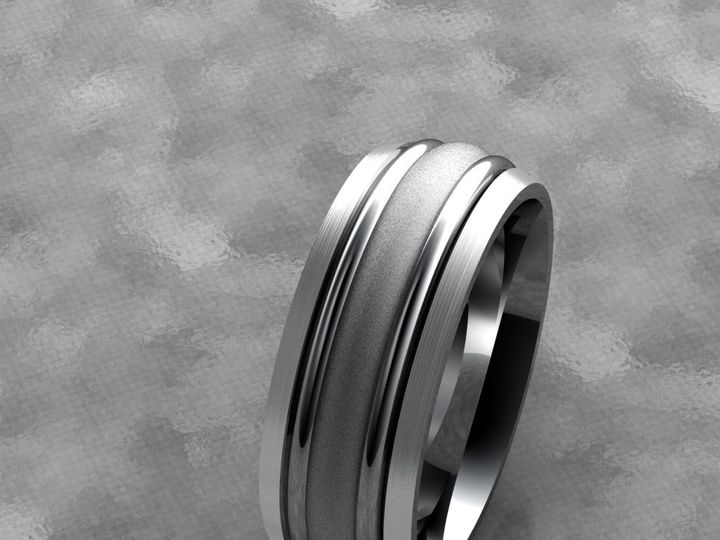 Tmx 1390596134099 Gents Band With A Satin And Stone Finis Lutherville Timonium wedding jewelry