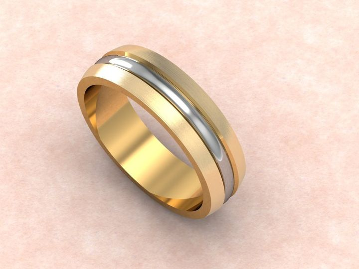 Tmx 1390596137406 Gents Two Tone Wedding Ban Lutherville Timonium wedding jewelry