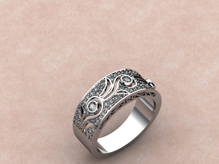 Tmx 1435332430591 Wide Diamond Band With Lutherville Timonium wedding jewelry