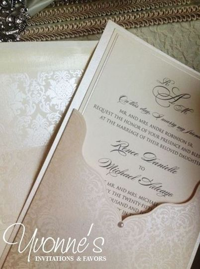 Scalloped Pocket Invite