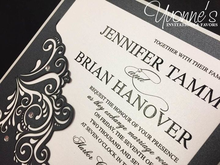 Black Laser-cut Invitation