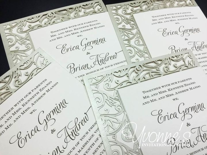 Intricate wedding invite