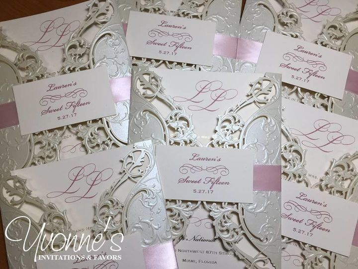 Blush and Ecru Pocket Invites