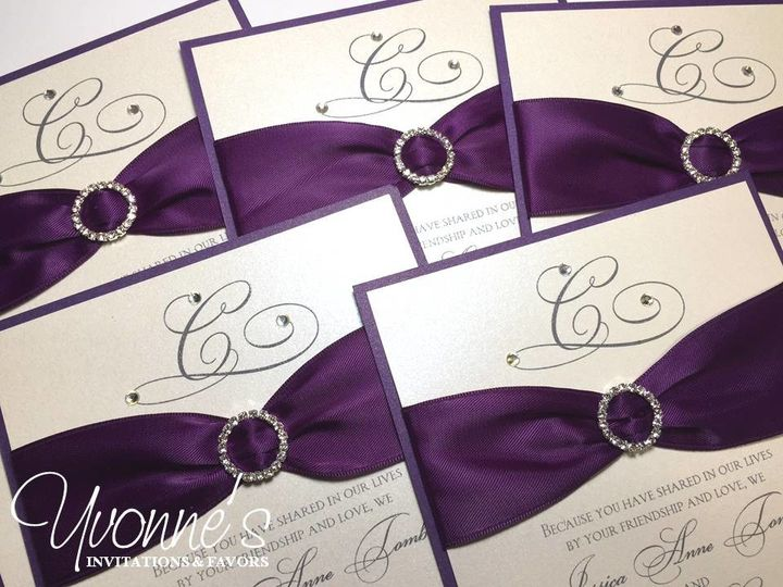 Tmx 1497556956334 Purple Brooch Invitation Hicksville, New York wedding invitation