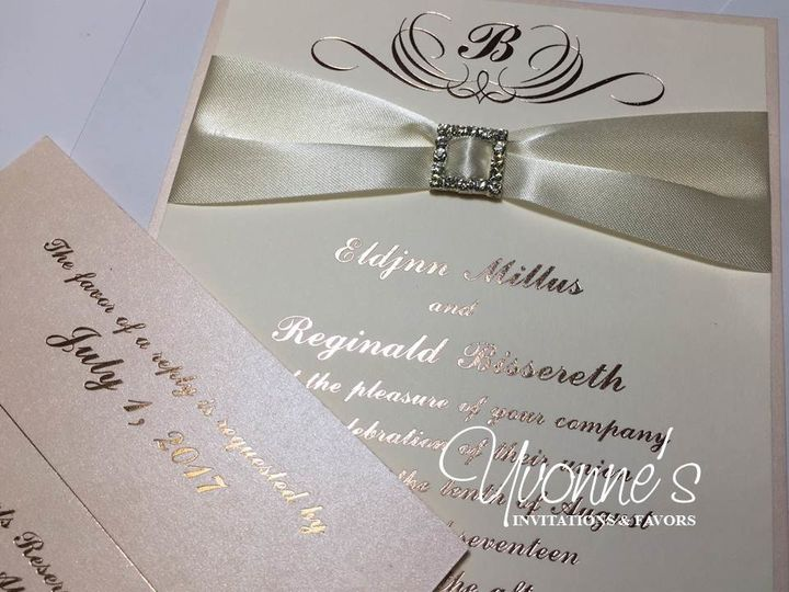 Tmx 1497557332741 Rose Gold Invitation Hicksville, New York wedding invitation