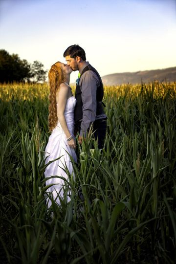 Farm wedding romance