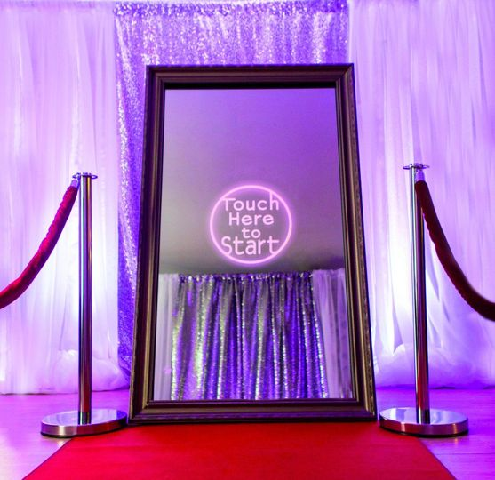We bring a red carpet and stanchions to top off the party!