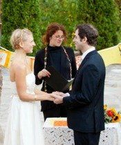 Early October wedding at the NC Arboretum.  We created a beautiful version of the Seven Blessings...