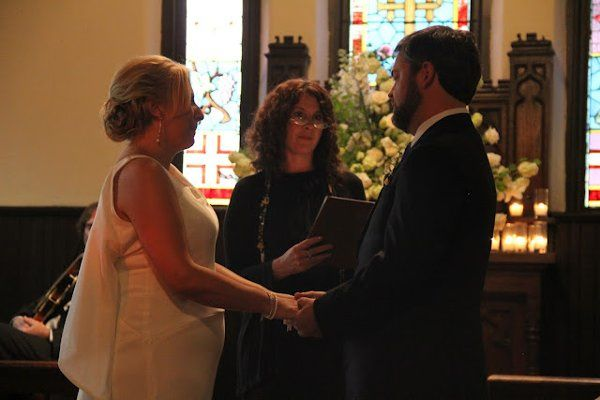 In addition to an original poem written by a friend, their ceremony was personalized in part with a...