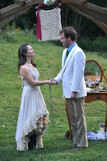 Carrie-Welles wanted to include a hand-fasting with her ceremony. Both she and Mark also wanted to...