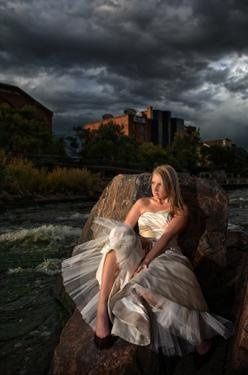 bride at trash the dress