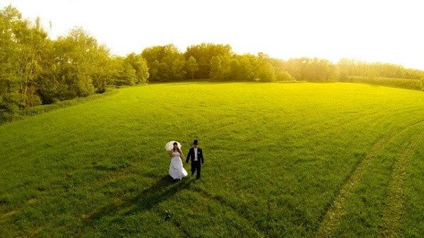 wedding photography drones