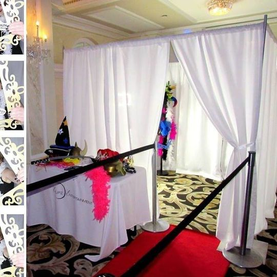 Wedding booth area