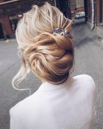 Hair in a bun
