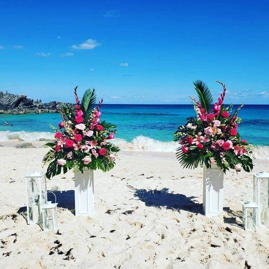 Beach columns