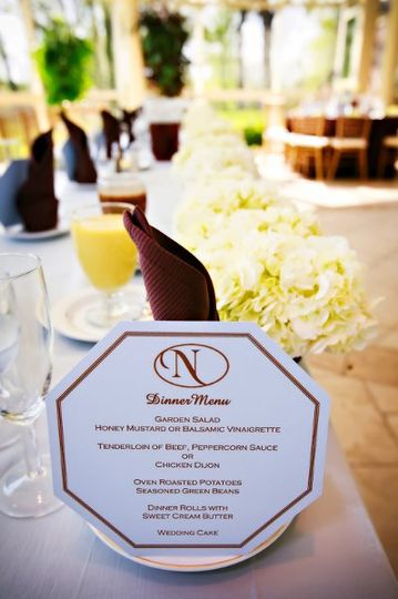 Menu cards, designed and created by Fabuleux.