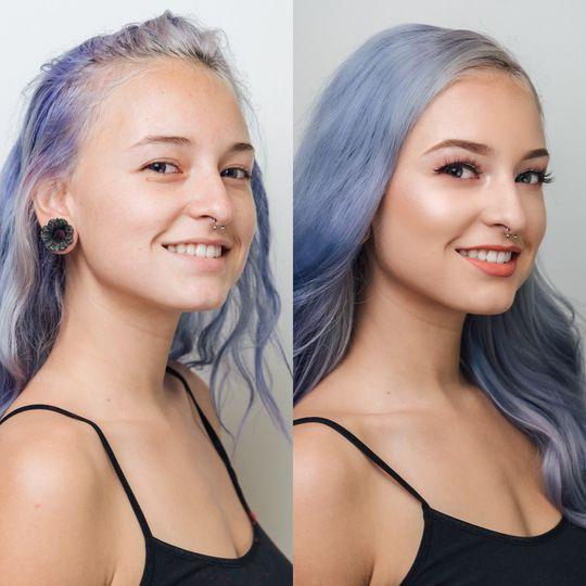 Makeup: Soft Glam Hair: Soft Curls