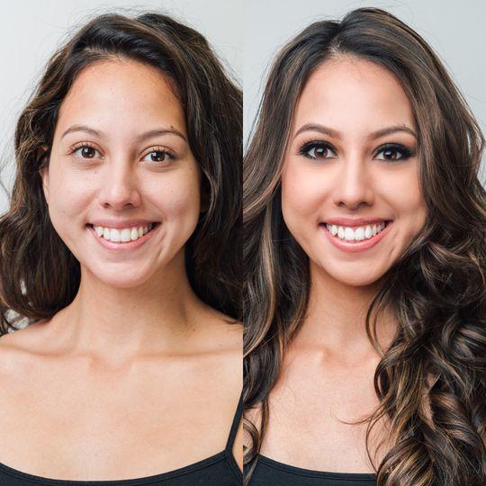 Makeup: Smokey Eyes Hair: Tighter Curls
